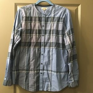 Burberry Brit Blue Plaid Blouse
